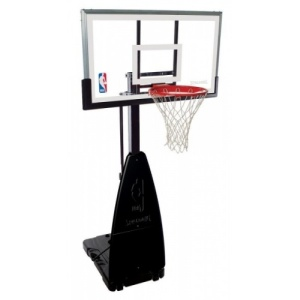 "Spalding 54"" Glass Portable basketball system"