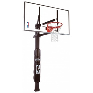"Spalding 60"" glass in-ground basketball system"