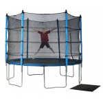 Action 10ft Round Trampoline Combo with Enclosure