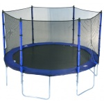 Action 12ft Round Trampoline with Enclosure