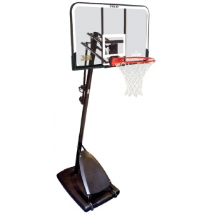Spalding Gold 48 Polycarbonate Portable Basketball System