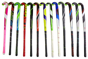 Range of demo hockey sticks at our Moorabbin store